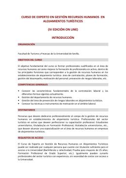 curso de experto en gestión recursos humanos en alojamientos