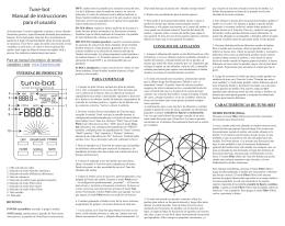Tune-bot Manual de instrucciones para el usuario