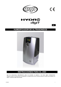 HUMIDIFICADOR DE ULTRASONIDOS