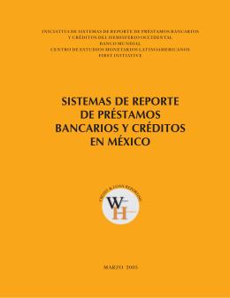 SISTEMAS DE REPORTE DE PRÉSTAMOS
