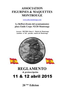 REGLAMENTO 11 & 12 abril 2015