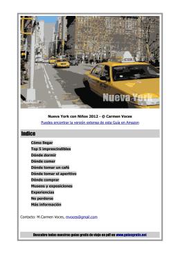 Guía Gratis de Nueva York con niños 2012