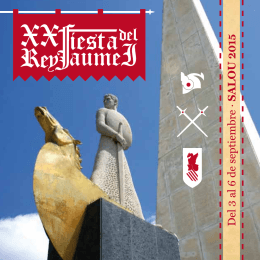 Programa Fiesta Rey Jaime I
