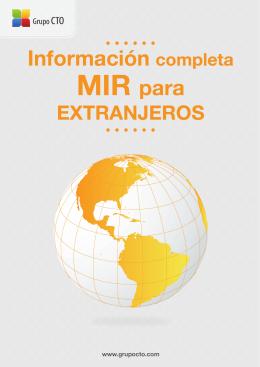 Información MIR para extranjeros.