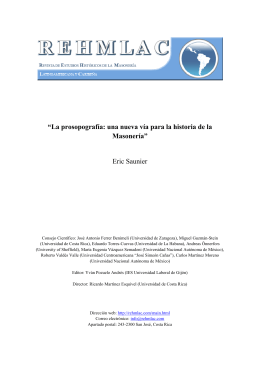 """""""La prosopografía: una nueva vía para la historia de la"""