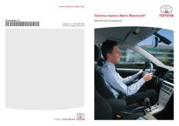 Sistema manos libres Bluetooth - Toyota