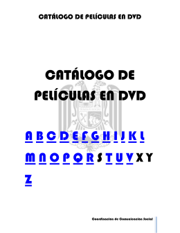 catálogo de películas en dvd - Escuela Nacional de Trabajo Social