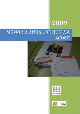 MEMORIA ANUAL DE HUELVA ACOGE