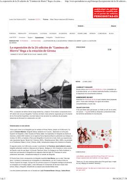 """La exposición de la 26 edición de """"Caminos de Hierro"""" llega a la"""