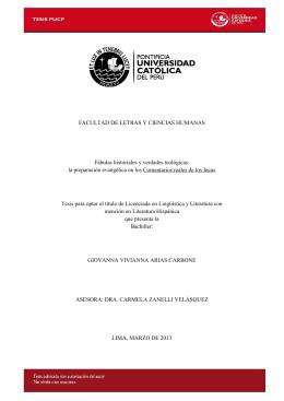 Giovanna Arias Carbone - Pontificia Universidad Católica del Perú
