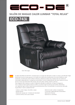 """TOTAL RELAX"" ECO-743i"