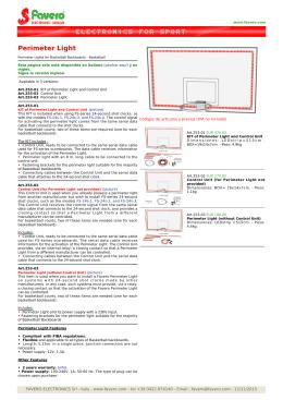 FAVERO: Luz para Tablero final de tiempo, Final basket luces led