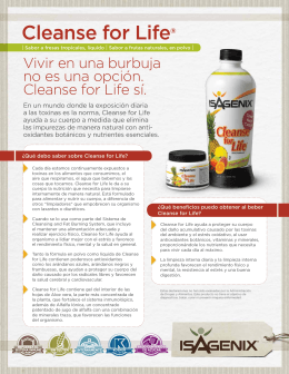 Cleanse for Life Flyer (ES)