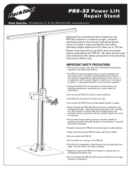 PRS-33 Power Lift Repair Stand