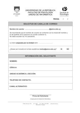 Formulario para la creación de nuevas cuentas de correo@psico