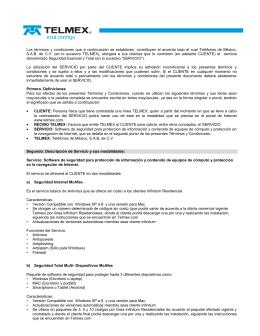 TERMINOS Y CONDICIONES ANTIVIRUS TELMEX_ MCAFEE