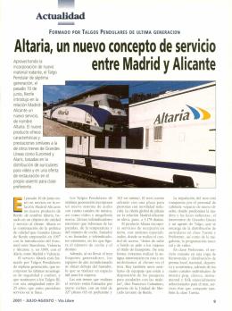 Altaria, un nuevo concepto de servicio entre - Vialibre