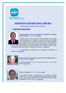NOTÍCIAS DEL PP DE SANT CUGAT: JUNIO 2012