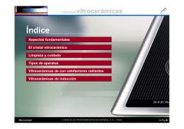 Información Técnica de VITROCERAMICAS