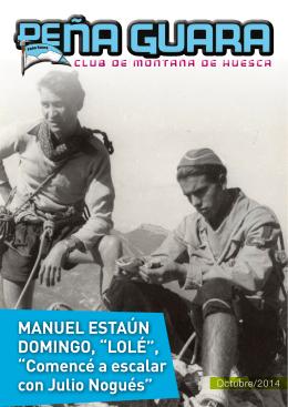 """Manuel estaún DoMingo, """"lolé"""", """"Comencé a escalar"""