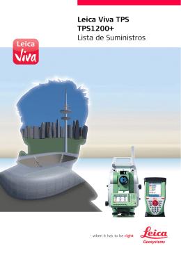 Leica Viva TPS TPS1200+ Lista de Suministros