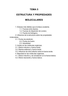 Estructura y propiedades moleculares