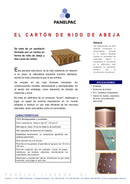 EL CARTÓN DE NIDO DE ABEJA