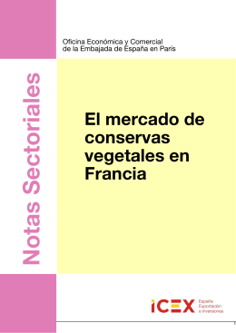 El Mercado de Conservas Vegetales en Francia - ICEX