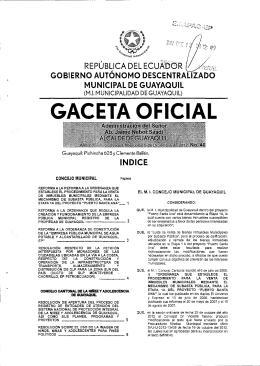 Gaceta oficial No 46 - EMAPAG-EP
