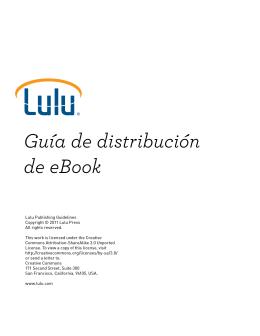 Guía de distribución de eBook