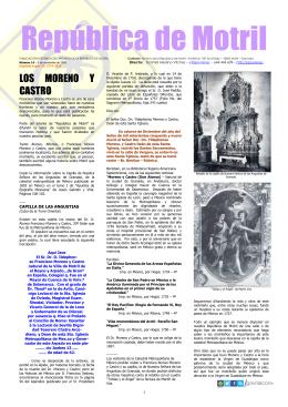 Los Moreno y Castro La iglesia Mayor La venta de países