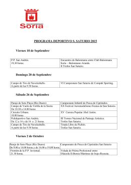 Programa Deportivo San Saturio 2015