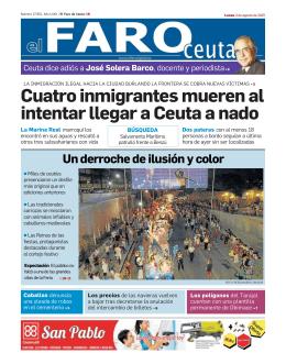 Cuatro inmigrantes mueren al intentar llegar a Ceuta a nado