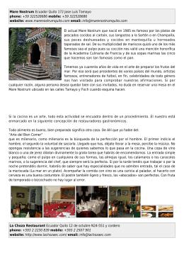 Mare Nostrum Ecuador Quito 172 Jose Luis Tamayo