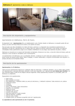 Apartamento rural en Adahuesca, Sierra de Guara