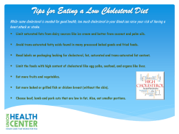 Tips for Eating a Low Cholesterol Diet