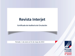 Revista Interjet - Secretaría de Gobernación