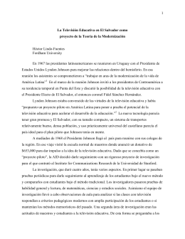 1 La Televisión Educativa en El Salvador como proyecto de la