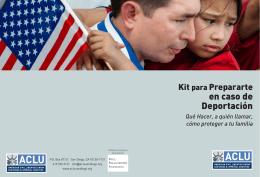 en caso de Deportación - ACLU of San Diego & Imperial Counties
