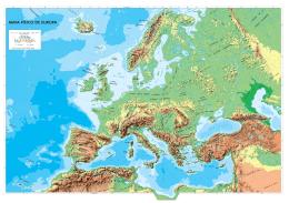 MAPA FÍSICO DE EUROPA - Instituto Geográfico Nacional