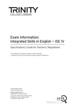 ISE Exam Information booklet