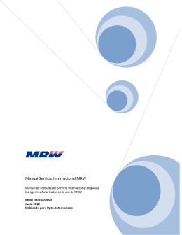 Manual de Calidad de Servicio Agencias MRW