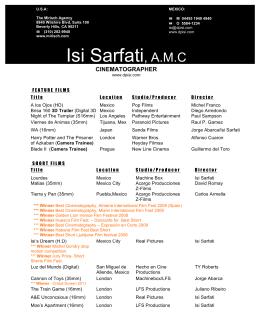 CV Isi Sarfati - 2011