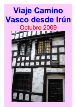 Viaje Camino Vasco desde Irún - misviajess