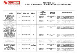 formación 2014 convocatoria cursos iaap homologados no