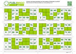 PUBLIBINGO: Generador de cartones de bingo