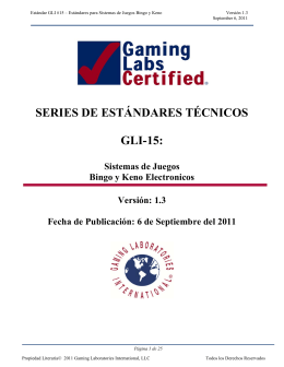 series de estándares técnicos gli-15