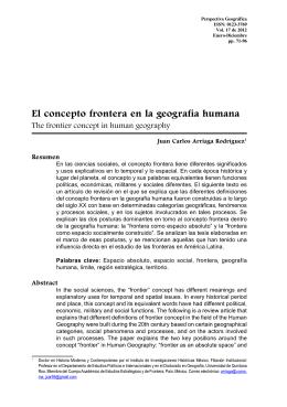 El concepto frontera en la geografía humana