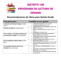 DISTRITO 130 PROGRAMA DE LECTURA DE VERANO