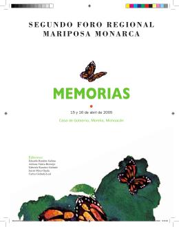 segundo foro regional mariposa monarca memorias